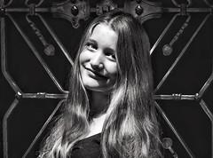 beautiful. stranger. (judydeanclasen) Tags: girl hair eyes stranger frame düsseldorf streetshot königsallee innocence youth streetportrait