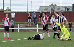 Photo of Confusion as the officials decision is awaited - offside, penalty or goal
