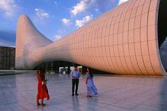 Velvia Heydar Aliyev Center (Packing-Light) Tags: 35mm azerbaijan baku caucasus eurasia nikonf6 analog emulsion film fujichrome velvia50 rvp street city architecture