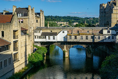Pulterney Bridge Bath Somerset (Mike Cook 67) Tags: elements pulterneybridge historic bath somerset england heritage robertadam designer riveravon completedby1774 palladianstyle 18thcenturybridge linedwithshops threeintheworld sonya6000 sony ilce6000 e 35mm f18 oss e35mmf18oss eveningsun vacation holiday hilton walcotstreet bridgephotography urban urbanphotography sonynex35mmf18osssel35f18group smickrsmugmugflickrgroup world sonyworld sonyalphaclub imagesofbathgroup fotofactory colour digital colorandcolorsgroup