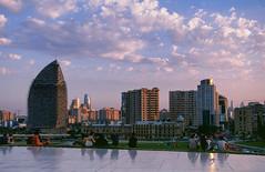 Velvia Baku Skyline (Packing-Light) Tags: 35mm azerbaijan baku caucasus eurasia nikonf6 analog emulsion film fujichrome velvia50 rvp street city architecture