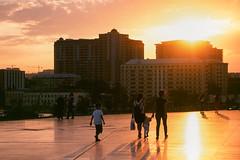 Baku Velvia Sunset (Packing-Light) Tags: 35mm azerbaijan baku caucasus eurasia nikonf6 analog emulsion film fujichrome velvia50 rvp street city architecture
