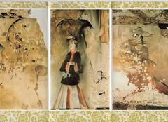"North Korea vintage DPRK pamphlet circa 1995 showing Ko-gu-ryo tomb murals - ""Beautiful Wall"" (moreska) Tags: north korea vintage dprk pamphlet oldschool 1995 koguryo tomb mural artwork paint 고구려 relics ancient historical decoration structures dynasties keepsake souvenir collectibles archive asia"