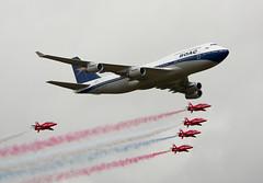 Boeing 747-436 G-BYGC & Red Arrows (phillipwilmshurst1) Tags: boeing 747 red arrows gbygc british airways boac riat 2019
