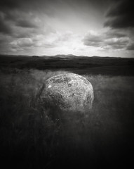 Floating Boulder, Scotland (michael prince) Tags: noon 4x5 pinhole scotland fomapan film nolens michaelprincephotography