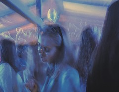 (Эдуард Геворкян) Tags: blue club night young motion film poetic cinematic impressionistic documentary russia moscow vsco party girl
