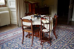 Afternoon Tea - with Sherry? (Dave Hamster) Tags: dinefwr wales dynevor nationaltrust statelyhome newtonhouse edwardrice rice ladyceciltalbot llandeilo afternoontea tea tableandchairs chairs sherry