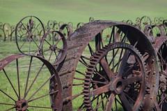 Palouse Wagon Wheel Fence (MichellePhotos2) Tags: palouse wagon wheel fence washington green nikon d850 nikond850 wagonwheel hills rolling scenic byway colfax uniontown farm