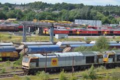 Toton (lcfcian1) Tags: toton railways trains depot ews db totondepot nottinghamshire train tracks rails diesels railyard class60