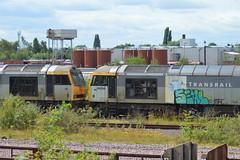 Toton (lcfcian1) Tags: toton railways trains depot ews db totondepot nottinghamshire train tracks rails diesels railyard class60 60023 60