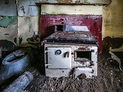 Range Within a Derelict Croft - South Uist (Craig Hannah) Tags: southuist derelict decay abandoned neglected island outerhebrides craighannah scotland july 2019 croft house cottage range derelictbuilding photography photos canon