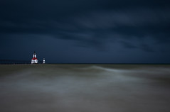 Alone To Face The Storm (scott5024) Tags: saint joseph lighthouse storm skies clouds beach lake michigan landscape high seas water