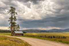 An Old Cabin (Ryan Jeske) Tags: canon1585mm canon canon80d clouds lanscape mountains road vallescaldera vallescalderanationalpreserve