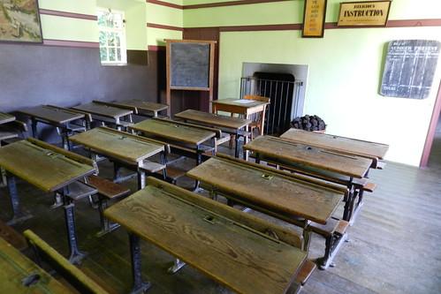 aula interior de La Escuela Parque Folklorico de Bunratty Folk Park Republica de Irlanda 02