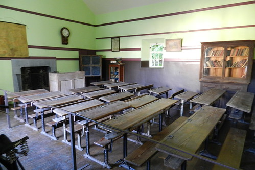 aula interior de La Escuela Parque Folklorico de Bunratty Folk Park Republica de Irlanda 01