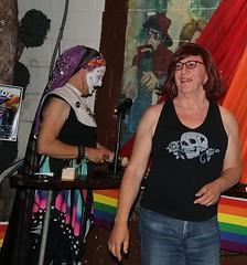 June 2019 (Patrice Bailey) Tags: cd crossdress crossdresser crossdressing ts tv tg transvestite transexual tranny tgirl tgurl gurl out bar redhead redhair glasses sister jeans denim