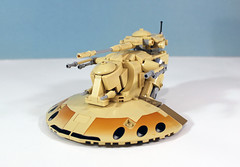 Custom LEGO AAT (Armored Assault Tank) (LegoMatic9) Tags: custom lego aat armored assault tank star wars phantom menace droid droids separatists moc build