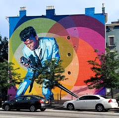 """Mr. Dynamite"" (Neil Noland) Tags: streetart graffiti cincinnati ohio"