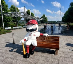 Mr. Redlegs in Riverfront Park (Neil Noland) Tags: cincinnati ohio