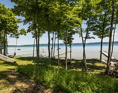 Post Card from Glen Lake . . . (Dr. Farnsworth) Tags: lake water green blue shade trees beautiful vacation glenlake mi michigan summer july2019