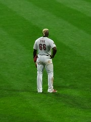 Perplexed Puig (Neil Noland) Tags: baseball stadium greatamericaballpark cincinnatireds cincinnati ohio mlb