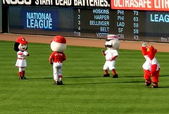 Square Dancing? (Neil Noland) Tags: baseball stadium greatamericaballpark cincinnatireds cincinnati ohio mlb