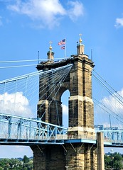 Roebling Bridge by Day (Neil Noland) Tags: cincinnati ohio bridge roeblingbridge