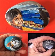 Had a productive weekend painting these Little rocks (Andreadm66) Tags: acrylicpaint moon puffin mallard train hobby handpainted art rockart paintedrock rock