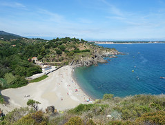 Collioure Coastal Hiking (Kaeko) Tags: trip travel vacation holiday france town europe resort collioure ocean sea beach hiking trail coastalhiking people mediterranean