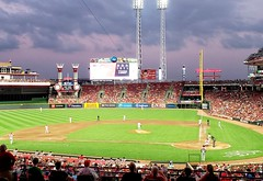 Afternoon into Evening (Neil Noland) Tags: baseball stadium greatamericaballpark cincinnatireds cincinnati ohio mlb