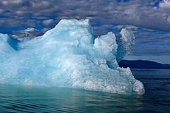 Glacial Blues - II (Ginger H Robinson) Tags: glacial blueice iceblue iceberg frozen lecontebay insidepassage coastal southeast alaska water reflection cloud sky light morning
