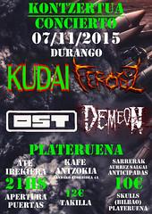 2015 H.- PLATERUENA 07-11-2015 FEROSZ+KUDAI+OST+DEMEON- DURANGO