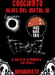 2015 D .- HIJOS DEL METAL III 20-06-2015 FEROSZ++LEVIATAN+MUSCARIAN  -BENAVENTE-ZAMORA