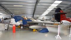de Havilland DH.112 Venom FB.50 c/n 815 Switzerland Air Force serial J-1605 (Erwin's photo's) Tags: charlwood gatwick aviation museum england united kingdom preserved aircraft raf rn royal air force navy de havilland dh112 venom fb50 cn 815 switzerland serial j1605