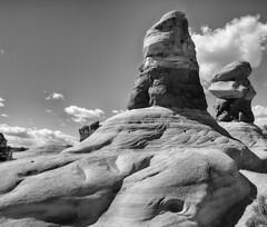 Untitled (RogelSM) Tags: outdoor utah landscape desert nature devilsgarden bw