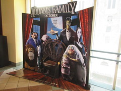 The Addams Family - Wobbly Character Animation Standee 6194 (Brechtbug) Tags: 2019 the addams family computer generated animated cartoon l r gomez uncle fester wednesday thing platter morticia lurch pugsley grand mama inspired by charles chas sure its best character design cartoonist eccentric holiday evil creature monster frankenstein like valet servant retainer manservant nanny domestic portrait nyc july new york city 12th 07212019 animation poster theater theatre