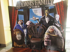 The Addams Family - Wobbly Character Animation Standee 6269 (Brechtbug) Tags: 2019 the addams family computer generated animated cartoon l r gomez uncle fester wednesday thing platter morticia lurch pugsley grand mama inspired by charles chas sure its best character design cartoonist eccentric holiday evil creature monster frankenstein like valet servant retainer manservant nanny domestic portrait nyc july new york city 12th 07212019 animation poster theater theatre