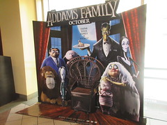 The Addams Family - Wobbly Character Animation Standee 6268 (Brechtbug) Tags: 2019 the addams family computer generated animated cartoon l r gomez uncle fester wednesday thing platter morticia lurch pugsley grand mama inspired by charles chas sure its best character design cartoonist eccentric holiday evil creature monster frankenstein like valet servant retainer manservant nanny domestic portrait nyc july new york city 12th 07212019 animation poster theater theatre