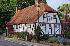 Bendy House (Croydon Clicker) Tags: house building distorted tudor ancient old street road flowers nikon sigma