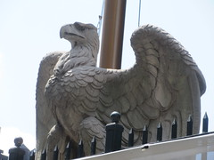 2019 American Bald Eagle Statue - Madison Square Garden 6305 (Brechtbug) Tags: 2019 american bald eagle statue near madison square garden 7th avenue new york city 07212019 bird sculpture former location borders books store nyc stone originally from old pennsylvania penn station torn down 1963