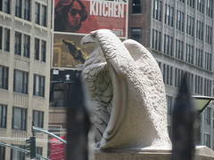 2019 American Bald Eagle Statue - Madison Square Garden 6299 (Brechtbug) Tags: 2019 american bald eagle statue near madison square garden 7th avenue new york city 07212019 bird sculpture former location borders books store nyc stone originally from old pennsylvania penn station torn down 1963