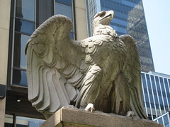 2019 American Bald Eagle Statue - Madison Square Garden 6285 (Brechtbug) Tags: 2019 american bald eagle statue near madison square garden 7th avenue new york city 07212019 bird sculpture former location borders books store nyc stone originally from old pennsylvania penn station torn down 1963