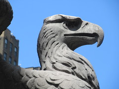2019 American Bald Eagle Statue - Madison Square Garden 6282 (Brechtbug) Tags: 2019 american bald eagle statue near madison square garden 7th avenue new york city 07212019 bird sculpture former location borders books store nyc stone originally from old pennsylvania penn station torn down 1963