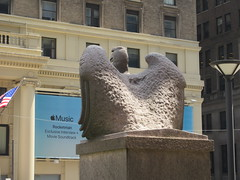 2019 American Bald Eagle Statue - Madison Square Garden 6274 (Brechtbug) Tags: 2019 american bald eagle statue near madison square garden 7th avenue new york city 07212019 bird sculpture former location borders books store nyc stone originally from old pennsylvania penn station torn down 1963