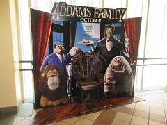 The Addams Family - Wobbly Character Animation Standee 6193 (Brechtbug) Tags: 2019 the addams family computer generated animated cartoon l r gomez uncle fester wednesday thing platter morticia lurch pugsley grand mama inspired by charles chas sure its best character design cartoonist eccentric holiday evil creature monster frankenstein like valet servant retainer manservant nanny domestic portrait nyc july new york city 12th 07212019 animation poster theater theatre