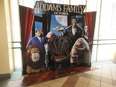 The Addams Family - Wobbly Character Animation Standee 6192 (Brechtbug) Tags: 2019 the addams family computer generated animated cartoon l r gomez uncle fester wednesday thing platter morticia lurch pugsley grand mama inspired by charles chas sure its best character design cartoonist eccentric holiday evil creature monster frankenstein like valet servant retainer manservant nanny domestic portrait nyc july new york city 12th 07212019 animation poster theater theatre
