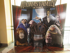 The Addams Family - Wobbly Character Animation Standee 6270 (Brechtbug) Tags: 2019 the addams family computer generated animated cartoon l r gomez uncle fester wednesday thing platter morticia lurch pugsley grand mama inspired by charles chas sure its best character design cartoonist eccentric holiday evil creature monster frankenstein like valet servant retainer manservant nanny domestic portrait nyc july new york city 12th 07212019 animation poster theater theatre