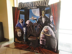 The Addams Family - Wobbly Character Animation Standee 6267 (Brechtbug) Tags: 2019 the addams family computer generated animated cartoon l r gomez uncle fester wednesday thing platter morticia lurch pugsley grand mama inspired by charles chas sure its best character design cartoonist eccentric holiday evil creature monster frankenstein like valet servant retainer manservant nanny domestic portrait nyc july new york city 12th 07212019 animation poster theater theatre