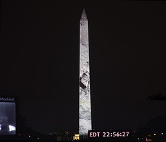 We came in peace for all mankind (Tim Brown's Pictures) Tags: washingtondc nationalmall washingtonmonument smithsonian nationalairandspacemuseum fiftynineproductions 59productions apollo1150thanniversary event show projections saturnvrocket night crowds crowd people spectators spaceexploration july201969 july202019 goforthemoon apollo50 washington dc unitedstates
