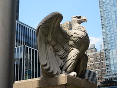 2019 American Bald Eagle Statue - Madison Square Garden 6281 (Brechtbug) Tags: 2019 american bald eagle statue near madison square garden 7th avenue new york city 07212019 bird sculpture former location borders books store nyc stone originally from old pennsylvania penn station torn down 1963